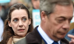 Brexit party candidate Annunziata Rees-Mogg, the sister of Tory Brexiter Jacob, joins Nigel Farage in Lincoln.