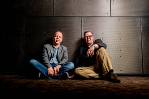 'I wrote a piece for Paul's wedding – but it sounded like the Dynasty tune' … cellist Huw Watkins, left, with his brother, Paul, a composer and pianist.