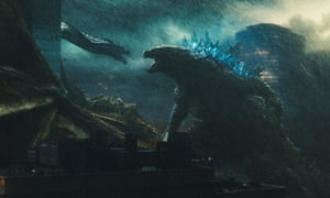 Godzilla (right) faces off with King Ghidorah.