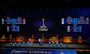 The full draw, with England in Group D alongside Scotland, Japan and Argentina.