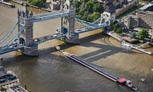 Virgin Media's 100m-long screen premiering its Usain Bolt film on the Thames.