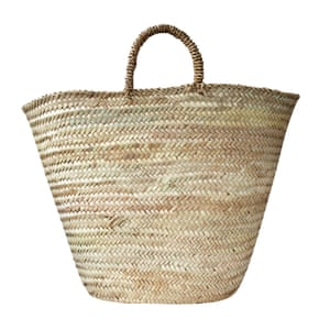 Woven palm leaf basket, £34, by Bohemia, suchandsuch.co