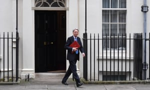 Philip Hammond en route to deliver the first-ever spring statement.