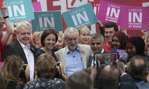 Carwyn Jones, Kezia Dugdale, Jeremy Corbyn and  Sadiq Khan