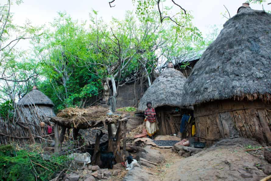 A village inhabited by members of the Konso ethnic group in the Omo valley.
