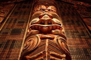 Maori wood carving.