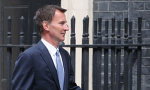 The foreign secretary, Jeremy Hunt