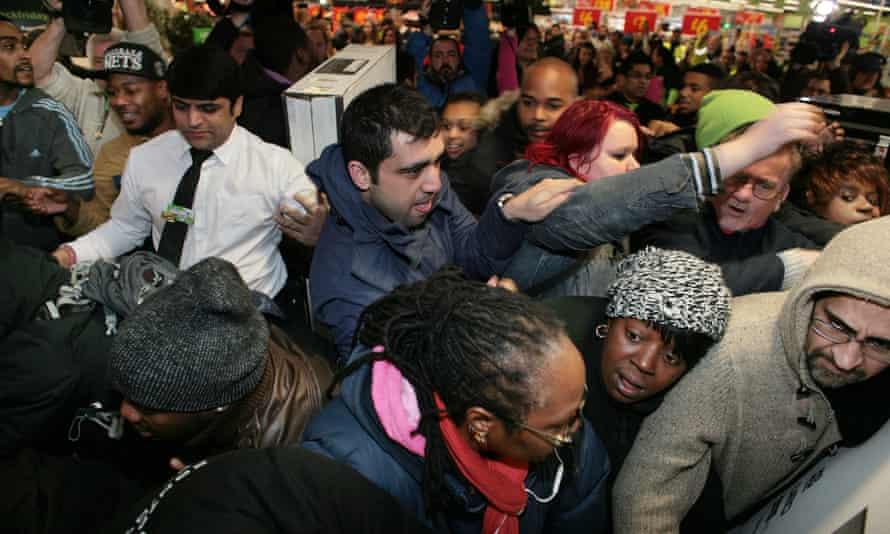 Black Friday at Asda in Wembley, north London.