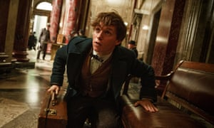 Eddie Redmayne as Newt Scamander in Fantastic Beasts and Where to Find Them.