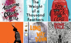 Some of the books longlisted for the 2019 Carnegie medal.