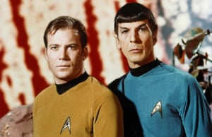 William Shatner as Captain Kirk and Leonard Nimoy as Spock in 1966