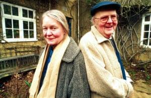 Iris Murdoch with John Bayley in 1997.