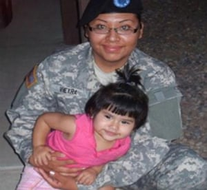 Photo of Barbara Vieyra and daughter Evelyn.