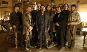 The cast of Deadwood, HBO television series