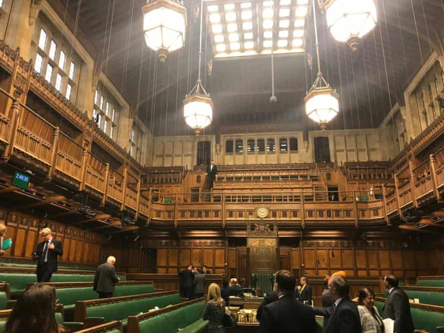 The House of Commons, suspended for the day after water began pouring into the chamber from the ceiling