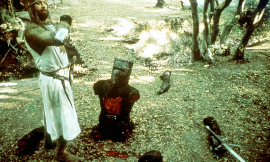 The black knight in the Monty Python and the Holy Grail film