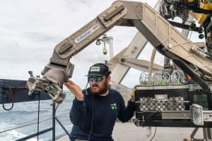 ROV pilot technician Corey has been working on R/V Falkor since 2014 and has extensive experience with the robotic submersible.