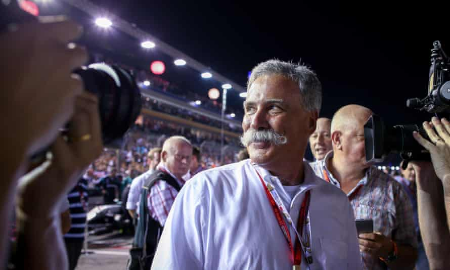 Formula One's new chief executive, Chase Carey.