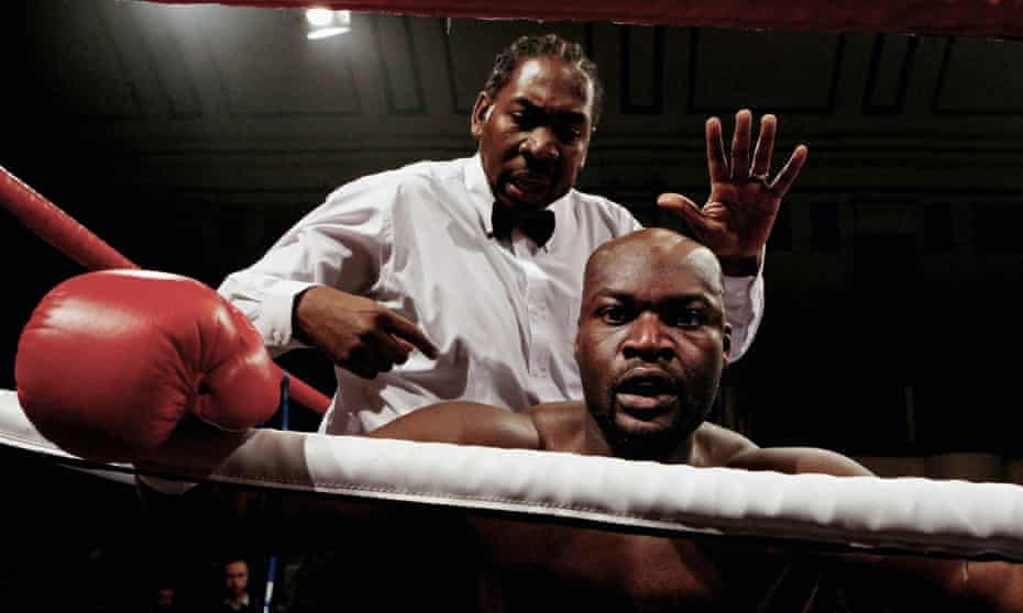 Larry Olubamiwo is counted out against John McDermott at York Hall on 19 February 2011