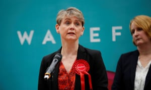 Yvette Cooper at her election count last week.