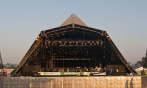 The pyramid stage the at Glastonbury festival.