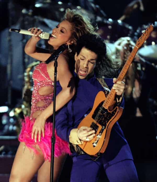 Prince and Beyoncé performing at the Grammy Awards in 2004.