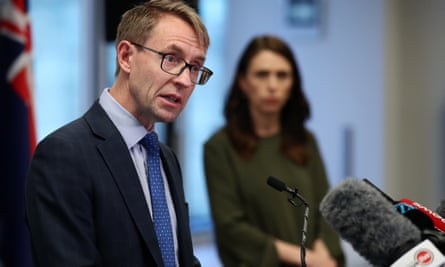 New Zealand director general of health, Dr Ashley Bloomfield, with Jacinda Ardern. He says the Covid crisis made him 'tired and anxious'.