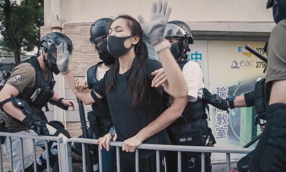 Resistance … a Hong Kong demonstrator, seen in Ai Weiwei's documentary Cockroach.