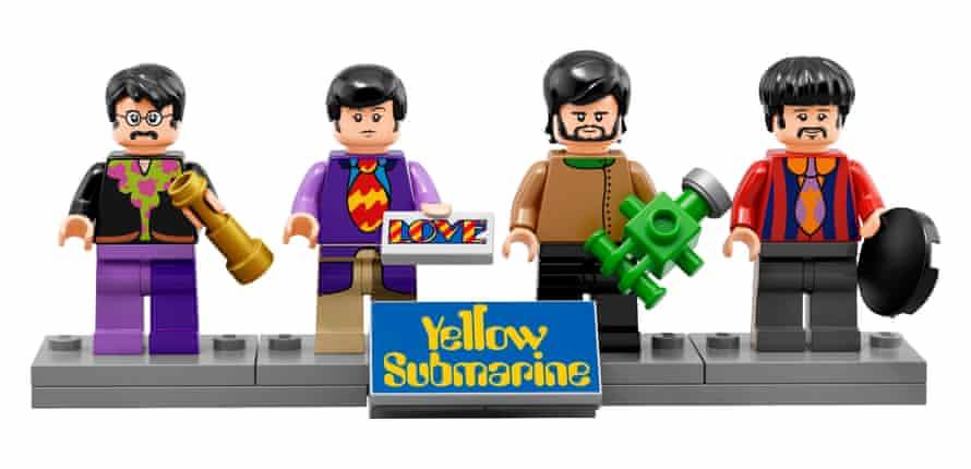 Models of John Lennon, Paul McCartney, George Harrison and Ringo Starr available with Lego's new Yellow Submarine set.
