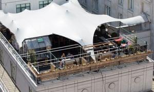 Roofnic pop-up restaurant, Marriott Hotel Park Lane, Londo