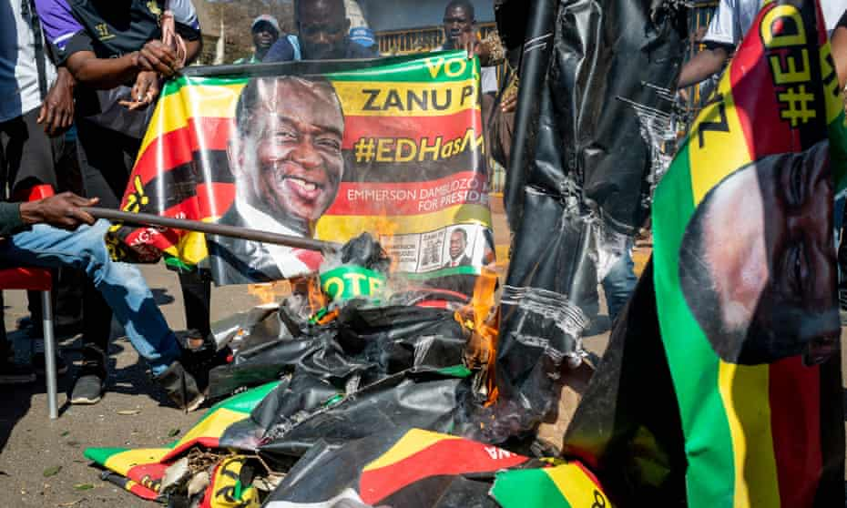 Protests in Zimbawe's capital, Harare