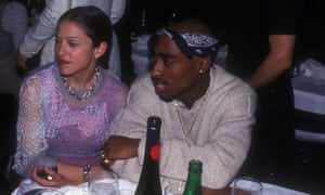 'I never meant to hurt you' ... Madonna and Tupac pictured at an Interview magazine party in New York City, 1 March 1994.