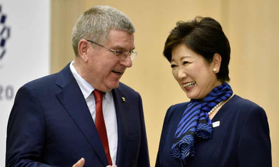 IOC president Thomas Bach and Tokyo governor Yuriko Koike