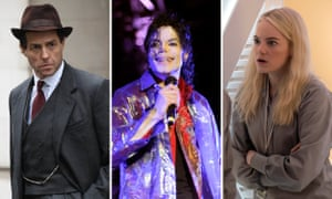 Hugh Grant in A Very English Scandal; Michael Jackson in This Is It; and Emma Stone in Maniac
