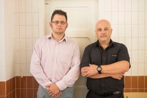 Hugh Selsick (right) with Andrew Eaton, a clinical scientist, at the Insomnia Clinic.