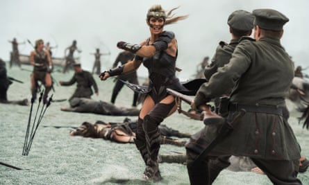 Robin Wright in a scene from Wonder Woman. Photo by Alex Bailey