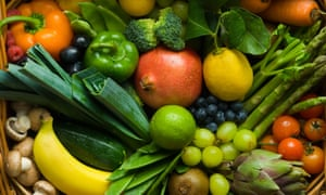 hamper of mixed fruit and vegetables