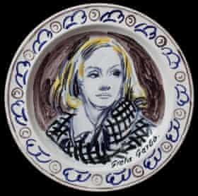 Greta Garbo from the Famous Women Dinner Service.