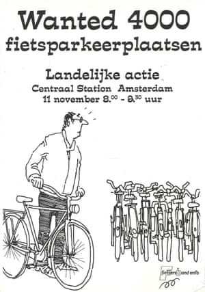 Poster calling for extra cycle parking at railway stations