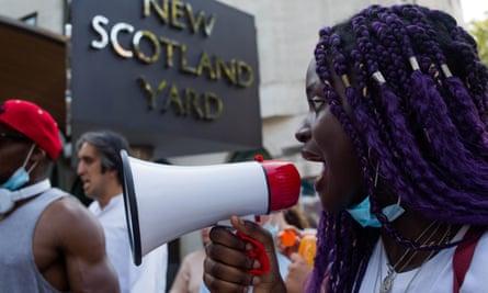 Black Lives Matter protest outside Scotland Yard