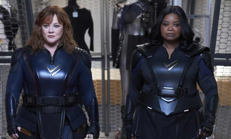 Melissa McCarthy, left, and Octavia Spencer in Thunder Force.
