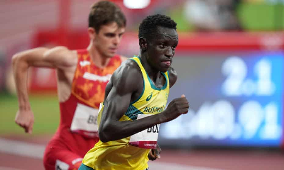 Peter Bol went out hard in the 800m final