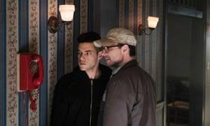 Rami Malek as Elliot with Christian Slater as Mr Robot.