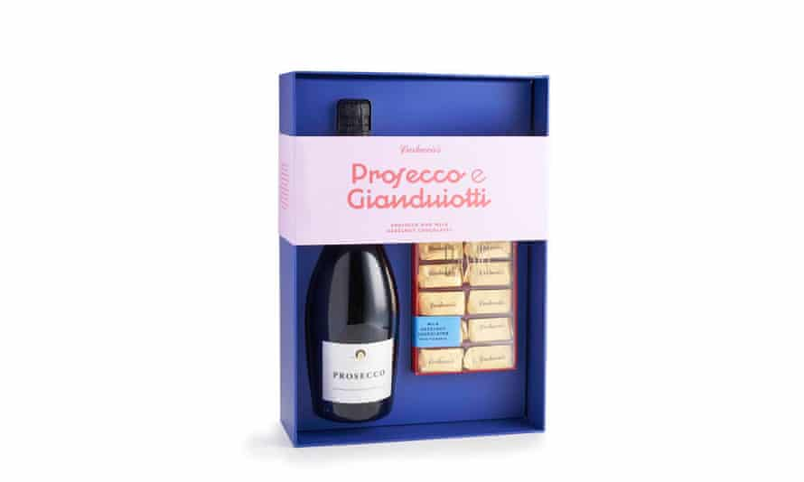 Prosecco and hazelnut gianduiotti in a gift box from  carluccios.com