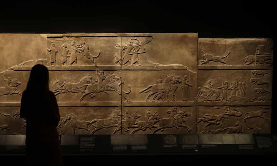 'Celebrating the blood-sport of the king' … Ashurbanipal on a hunt.
