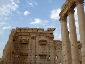 Palmyra's Temple of Bel in 2010. Construction on the temple began in 32BC and ended in the second century. Isis has reduced it to rubble.