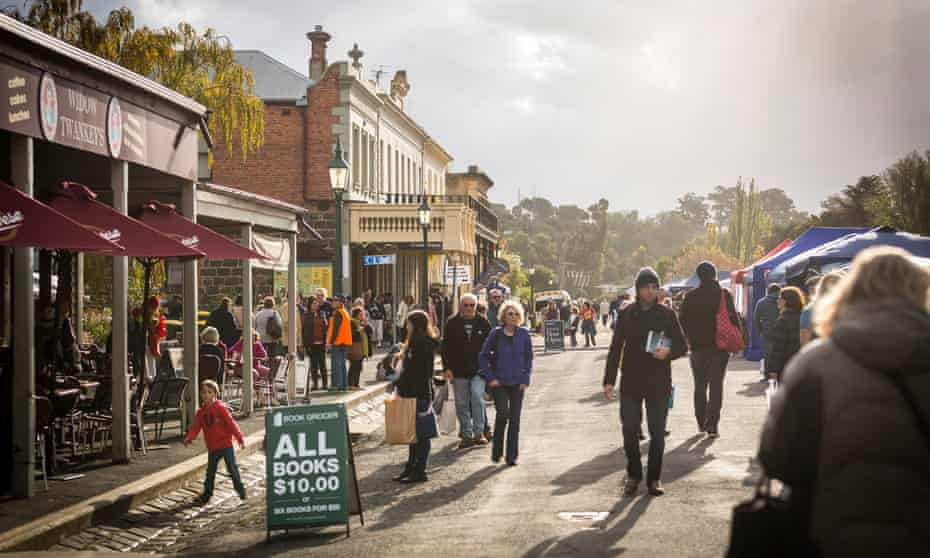 The Fraser Street Book Bazaar at the 2017 Clunes Booktown Festival.