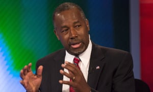 Republican presidential candidate Dr Ben Carson appears on Fox Business Network's Varney & Co