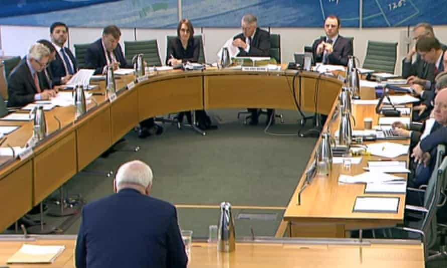 Bertie Ahern gives evidence to the Exiting the European Union Committee in the House of Commons.