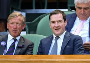 Wimbledon Tennis Championships, Day 4, The All England Lawn Tennis and Croquet Club, London, UK - 04 Jul 2019Mandatory Credit: Photo by James Veysey/REX/Shutterstock (10327629aq) George Osborne on Centre Court Wimbledon Tennis Championships, Day 4, The All England Lawn Tennis and Croquet Club, London, UK - 04 Jul 2019